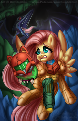 MARES Metroid Fluttershy by BumbleBun