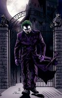 Joker Leaving Arkham colors by CThompsonArt