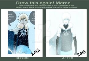 draw these again!meme (finn the ice prince) by ziqman