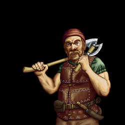 Wesnoth - Dwarf Scout by thespaceinvader