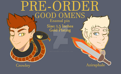 PREORDER: Ineffable Husbands Good Omens Enamel Pin