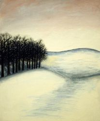 Quiet Trees on a Snowy Evening by herbalcell