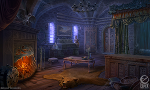 Ravenhearst's bedroom - game scene by aleksandr-osm