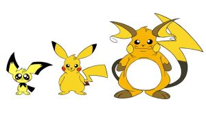 Pikachu Family - Caricature by Jackster3000