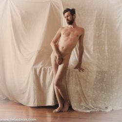 Nude Male Stock standing frontal modest by TheMaleNudeStock