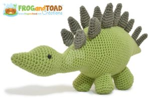 Stegosaurus Dinosaur Amigurumi by FROG-and-TOAD