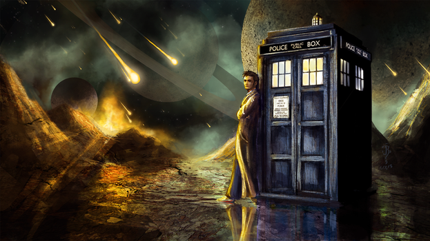 The Doctor and the Tardis by Jay-R-Took