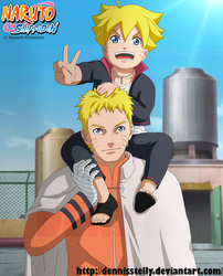 Naruto and Bolt - Father and son by DennisStelly