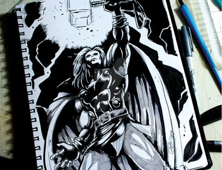 the mighty Thor ink