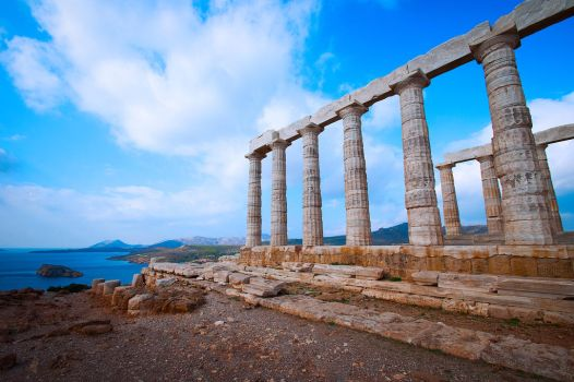 Temple at Sounion by Carise