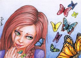 Commission - ACEO - Whoops.. by Crida