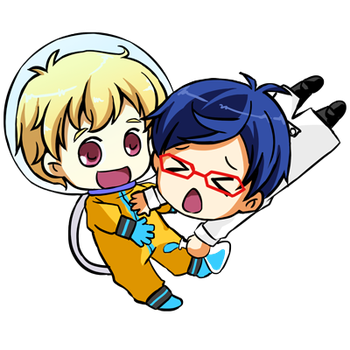 Nagisa and Rei by CRINS