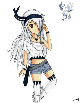 Mega Absol Girl (Contest Entry) by BlueCrew