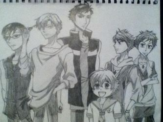 Ouran Highschool Host Club (reposted) by HUNGERGAMESF451