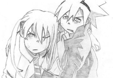 Soul and Maka by MoonlitSoulWolf