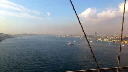 mid of the bridge. between asia and europe by buraksti