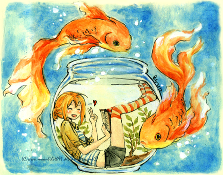 :Goldfish girl: by Moonlilith91
