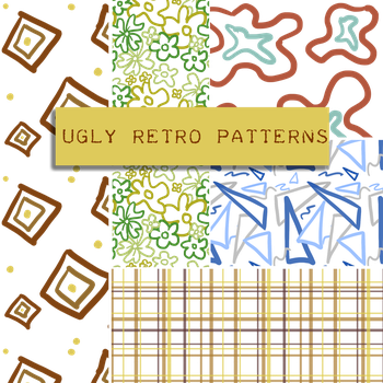 Ugly Retro Pattern Set by BellaCielo