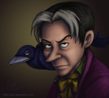 Cedric the Sorcerer and Wormwood by JenL
