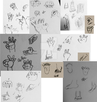 Hands and Feet Practice Collage by Le-Smittee