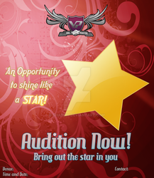 VP: Audition Poster 2 by Shabihu