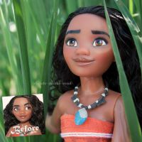 Disney Moana/Vaiana Doll Repaint | For Sale by claude-on-the-road