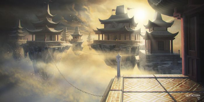 7 Mages - City In The Clouds by hunterkiller