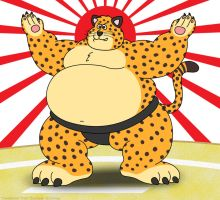 Clawhauser as Sumo Wrestler by napalmhonour