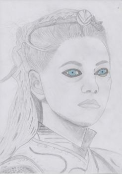 Lagertha portrait by portraitpencil