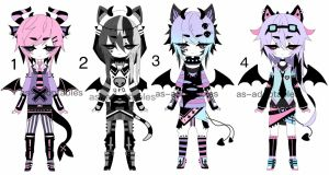 goth Kemonomimi adoptable CLOSED by AS-Adoptables