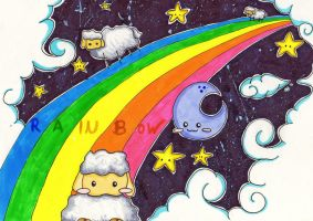 Sheeps over the Rainbow by KuneCoco