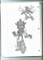 Mecha Sonic and Tails by dagothagahnim