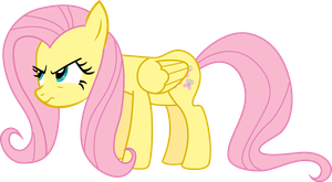 Miffed Fluttershy by linkitch