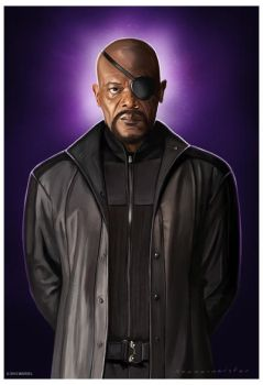 Nick Fury by markdraws