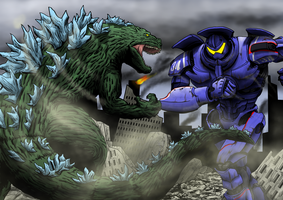 Old vs New: Godzilla vs Gipsy Danger by A3DNazRigar