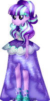 Starlight Gala Dress|Everfree|EqG AU| by Mairu-Doggy