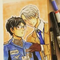 Victor and Yuuri by pokuliusz