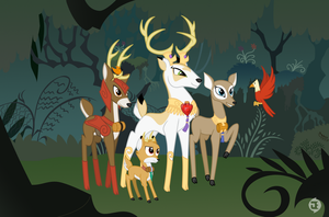 The Deer of the Everfree Forest by AndoAnimalia