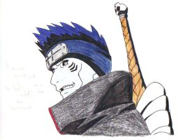 Kisame Hoshigaki- Colored by DudettRin101