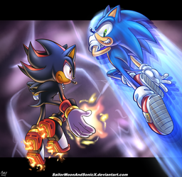 Duel Time by SailorMoonAndSonicX
