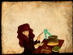 Hermioe brewing potions by Fawn-melody