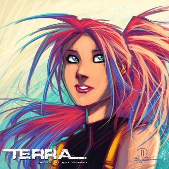 Terra Speed painting by JoeyVazquez