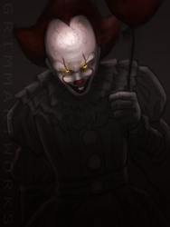 Pennywise more like Pennydumb HAHAHA get it cuz wh by GrimmArtworks
