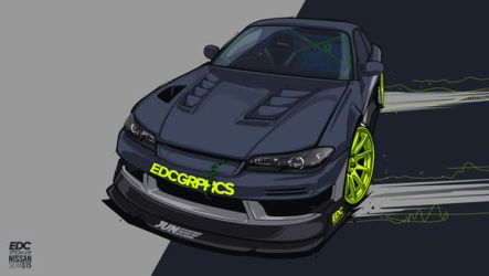Nissan Silvia S15 #EDCGRPHCS by edcgraphic