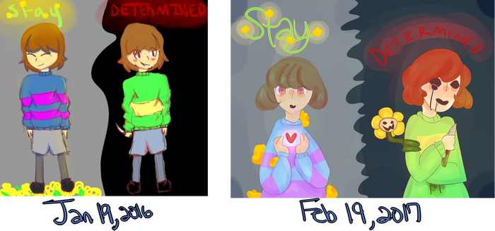 Chara and frisk redraw by SoulLovesArt