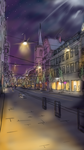 Street in Erfurt @ Night by Flashkirby-99