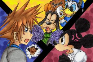 Superclash-Sora vs King Mickey by Jacky-Bunny