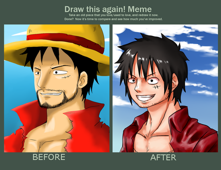 Another timeskip Luffy by GinLN