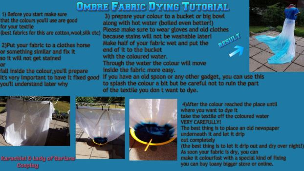 Ombre Fabric Dying tutorial by LadyOfBarians