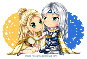 Commission: Rosa and Cecil by Lucina-Waterbell